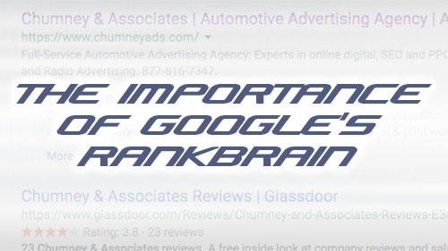 The importance of Google's RankBrain
